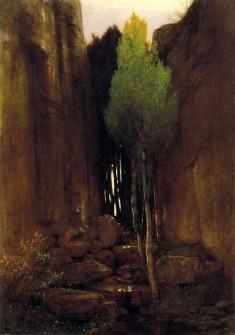 Source entre deux parois rocheuses, Arnold Böcklin. 1881