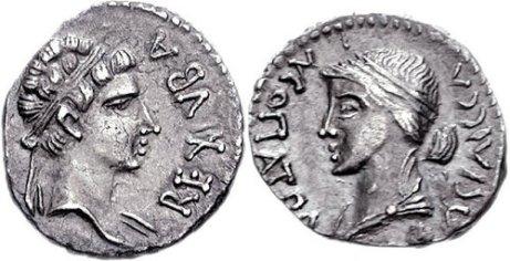 Deniers de Cléopâtre Séléné et Juba II