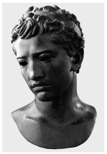 Buste de Juba II, bronze, ht. 47 cm, retrouvé à Volubilis (Maroc) et conservé au musée de Rabat