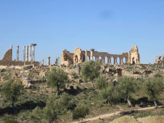 La site de Volubilis au Maroc, crédits : Barbara Blanchard pour l'UNESCO