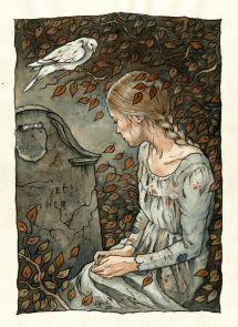 Cendrillon sur la tombe de sa mère par Līga Kļaviņa