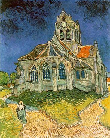L'église d'Auvers-sur-Oise, Vincent Van Gogh, 1890, musée d'Orsay