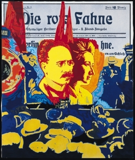 Die Rote Fahne, 1973-74 (oil on canvas)