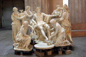 François Girardon et Thomas Regnaudin, Apollon servi par les nymphes, 1666, marbre. Crédits: Wikipédia commons