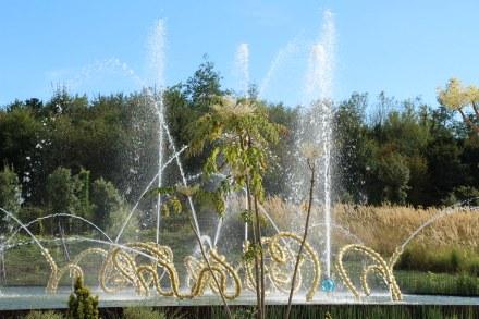 Bosquet du théâtre d'eau, réalisation de Jean-Michel Othoniel