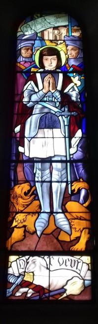 Sur la base d'un carton de René-Marie Castaing, église de Moncaup