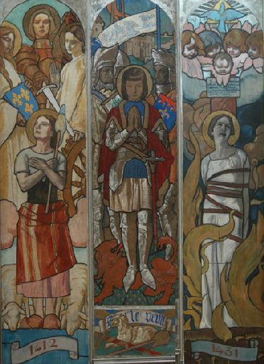 René-Marie Castaing, Etude pour vitraux Jeanne d'Arc