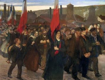 La Grève au Creusot, Crédits : mahJ