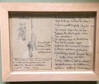 Dessins et notes prises par Jules Adler pour la réalisation de la Grève au Creusot