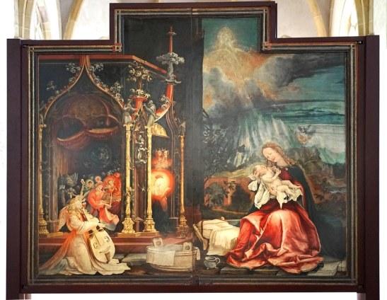 retable conert des anges et nativité