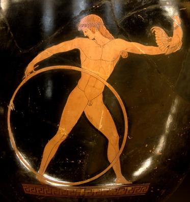 Ganymède, cratère à figures rouges du Peintre de Berlin, ve siècle av. J.-C., musée du Louvre. Source : Wikimedia Commons, photo de Bibi Saint-Pol.