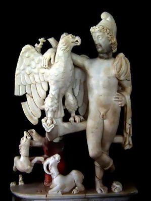 Statuette de Ganymède, exposée au musée paléo-chrétien de Carthage. Source : Wikimedia Commons, photo de Pascal Radigue.