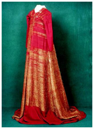 La robe d'or de Margareta, état actuel