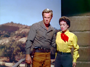 Joan Crawford avec Sterling Hayden dans Johnny Guitare (Nicholas Ray, 1954)